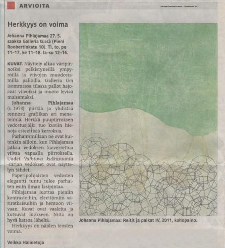 Helsingin Sanomat 17.5.2012